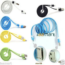 New 3ft 1M Noodle Flat Micro USB to USB 2.0 5 Pin Data Sync Cable For Cellphone