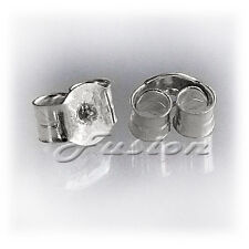1 PAIR 9 CT WHITE GOLD STUD EARRING STRONG BUTTERFLY BACKS SCROLLS