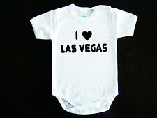 I Love Las Vegas  LOGO BABY BODYSUIT ONESIE ONE PIECE CLOTHING ROCK HARD FUNK
