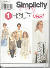 Simplicity 8744 Misses' Set of Lined Vests  Sewing Pattern