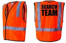 SAR - SEARCH & RESCUE TEAM REFLECTIVE MESH SAFETY VESTS - SAFETY ORANGE