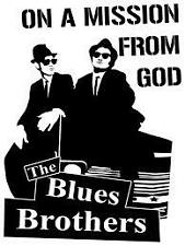 The Blues Brothers on a Mission from God Vinyl Wall Art Sticker in 24 Colours