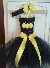 BATMAN SUPERHERO BIRTHDAY TUTU dress costume party halloween 0-24 mos