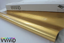 Gold Brushed Chrome Car Decal Vinyl Wrapping Film Bubble-Free BRCHRG5M