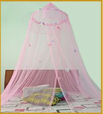 *Round Hoop* with Daisies Bed Canopy Mosquito Net for Crib Twin size Bed Pink