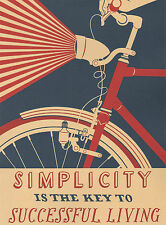 Vintage Bicycle Travel Poster Art Print  On Cotton Canvas  A1/A2/A3/A4 + More