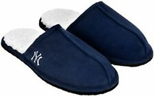 New York Yankees MLB Licensed Men's Faux Fur Lined Slippers Adult Sizes S M L XL