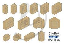 Kitchen Carcass Cabinet Unit - ClicBox - Oak - Wall Units - All Types