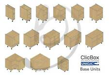 Kitchen Carcass Cabinet Unit - ClicBox - Oak - Base Units - All Types