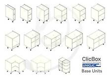 Kitchen Carcass Cabinet Unit - ClicBox - Ivory - Base Unit - All Types