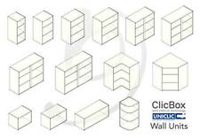 Kitchen Carcass Cabinet Unit - ClicBox - Ivory - Wall Unit - All Types