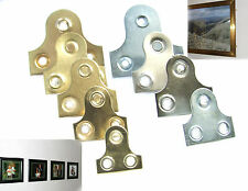 Countersunk Mirror fixing plate bracket 19 - 50 mm.Hang/fix photo/picture/mirror