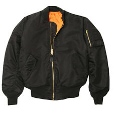 ALPHA INDUSTRIES MA-1 FLIGHT JACKET BLACK  XS,S,M,L.XL,2XL,3X,4X,5X,MT,LT  NYLON