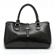 Vintage Designer Real Leather Womens Handbag Ladies Tote Bag Shoulder Shopper