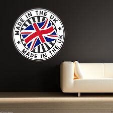 FULL COLOUR MADE UK UNION JACK FLAG EMBLEM WALL STICKER BOYS BEDROOM DECAL MURAL