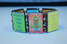 Wood Bracelet Virgencita Various Colors - Mexican Bracelet