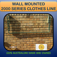 FOLDING WALL MOUNTED CLOTHESLINE 2000mm x 900mm  Australian made