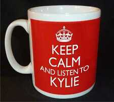 KEEP CALM AND LISTEN TO KYLIE MINOGUE GIFT MUG CARRY ON COOL BRITANNIA RETRO