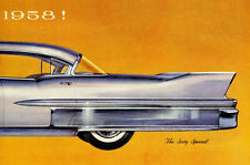 1958 Cadillac Sixty Special Vintage Car Advertisement Auto Ad Art Canvas Print s