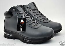 LABO Men's Gray Hiking Winter Snow Boots Shoes Leather Air Heel Medium(D,M) 5812