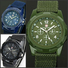 ARMY MILITARY STYLE FASHION SOLDIERS WATCH WITH CANVAS STRAP IN 3 COLOURS