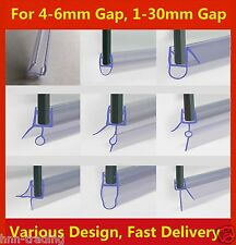 Curved/Flat 4-6mm Glass Bath Door Shower Screen Seal Plastic Strip 1-30mm Gap