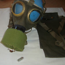 Canvas Gas Mask Full Set Genuine Hungarian Bag  Surplus canister diferent sizes