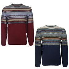 NEW TOKYO LAUNDRY MENS TOPPER STRIPED JACQUARD KNITTED SWEATER JUMPER SIZE S-3XL