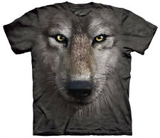 Wolf Face Adult  Animals Unisex T Shirt The Mountain