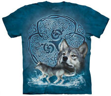 Celtic Wolf Adult  Animals Unisex T Shirt The Mountain