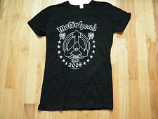 Motorhead 2008 tour Black Girly tultex T-Shirt  Available in youth (M)(L) & (XL)