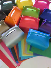 5 x GIFT BOXES WITH x 2 TISSUE PAPER FAVOUR PICNIC LUNCH MEAL BOX - PARTY FOOD