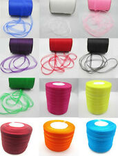 "New 50 Yards 3/8"" 9mm Satin Edge Sheer Organza Ribbon Bow Craft U pick Colors"