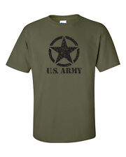 U.S. United States Army Military Star in Circle Men's Tee Shirt 463