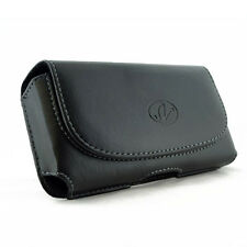 Leather Sideways Horizontal Belt Clip Case Pouch for Cell Phones ALL CARRIERS