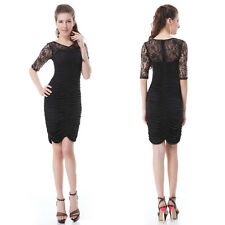 2014 Ever Pretty Summer Funky Lace Black Cocktail Casual Party Club  Dress 03829