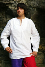 Medieval-LARP-Re enactment-Cosplay-Gothic 100% cotton cuffed shirt ALL SIZES