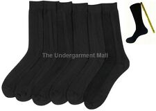 12 pairs lot new mens ribbed dress socks black casual fashion size 9-11 10-13