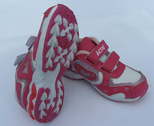 NEW Toddler Shoes Soft Infant Girls Leather Size 24/25/26 Pink Runners Velcrow