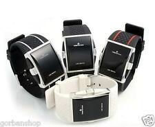 Mens Luxury Date Digital Sport Led Watch Rubber Wrist Red Black White