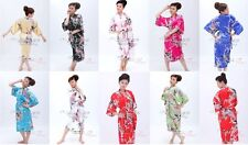 Satin Kimono 13 Colours Bath Robe Night Gown Geisha Sleepwear