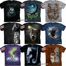 Mountain Big Animal Face Sasquatch Wolf Tiger Lion Eagle  T Shirt 9 ON SALE!!!!!