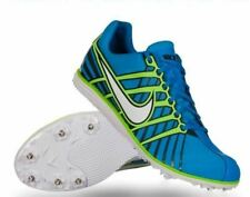 NEW Mens 12.5 NIKE ZOOM RIVAL D 6 Blue Green Mid Long Distance Track Spike Shoes