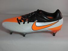 Men's Nike Total 90 Laser IV SG Soccer Cleat-Detachable,White/Black/Orange,7