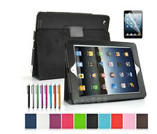 Magnetic PU Leather Flip Stand Smart Cover Case For The New iPad 4 4G Gen 3rd 2