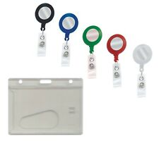Enclosed Id Card Holder & ID YOYO Badge Reel Free P&P