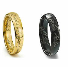 Tungsten Titanium Ring Lord of Rings LOTR The One Wedding Band All Sizes NEW