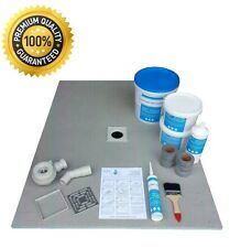Wet Room Wetroom Shower Tray Extra Large Kit 1200 x 900 mm