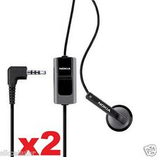 2x New OEM Nokia HS-41 3.5mm Universal Premium Mono Earphone Headset+Mic
