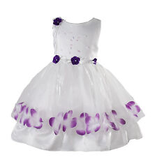 New Flower Girl Party Bridesmaid Pageant Dress in 8 Colours From 9-12M to 7 Year